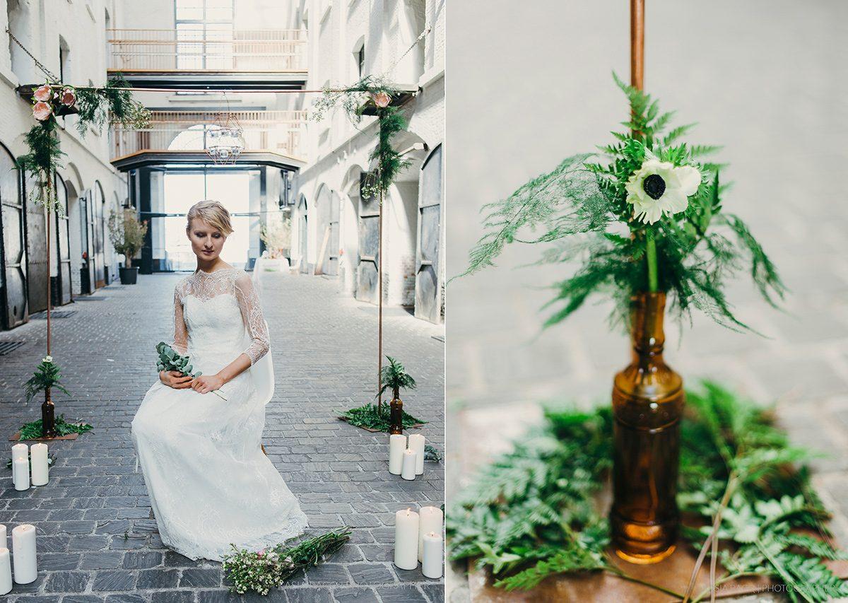 Copper Botanical Urban Wedding Kasia Bacq-27