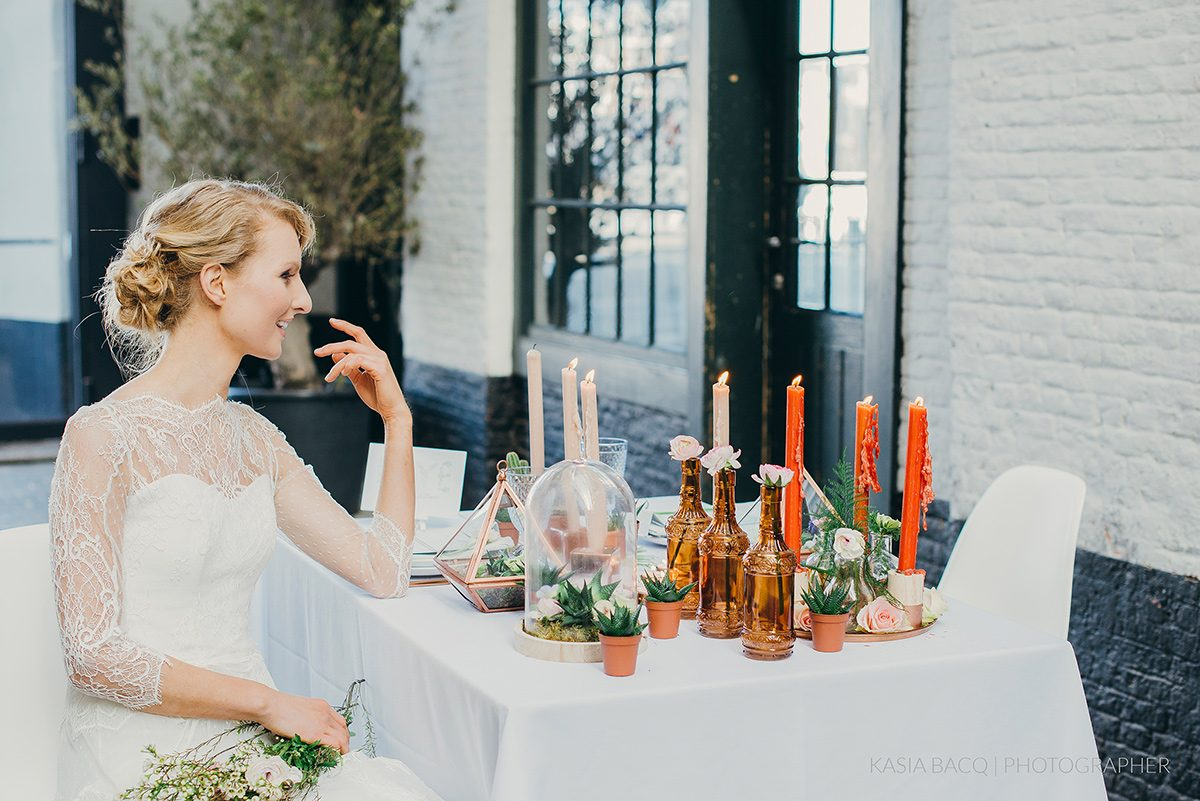 Copper Botanical Urban Wedding Kasia Bacq-38