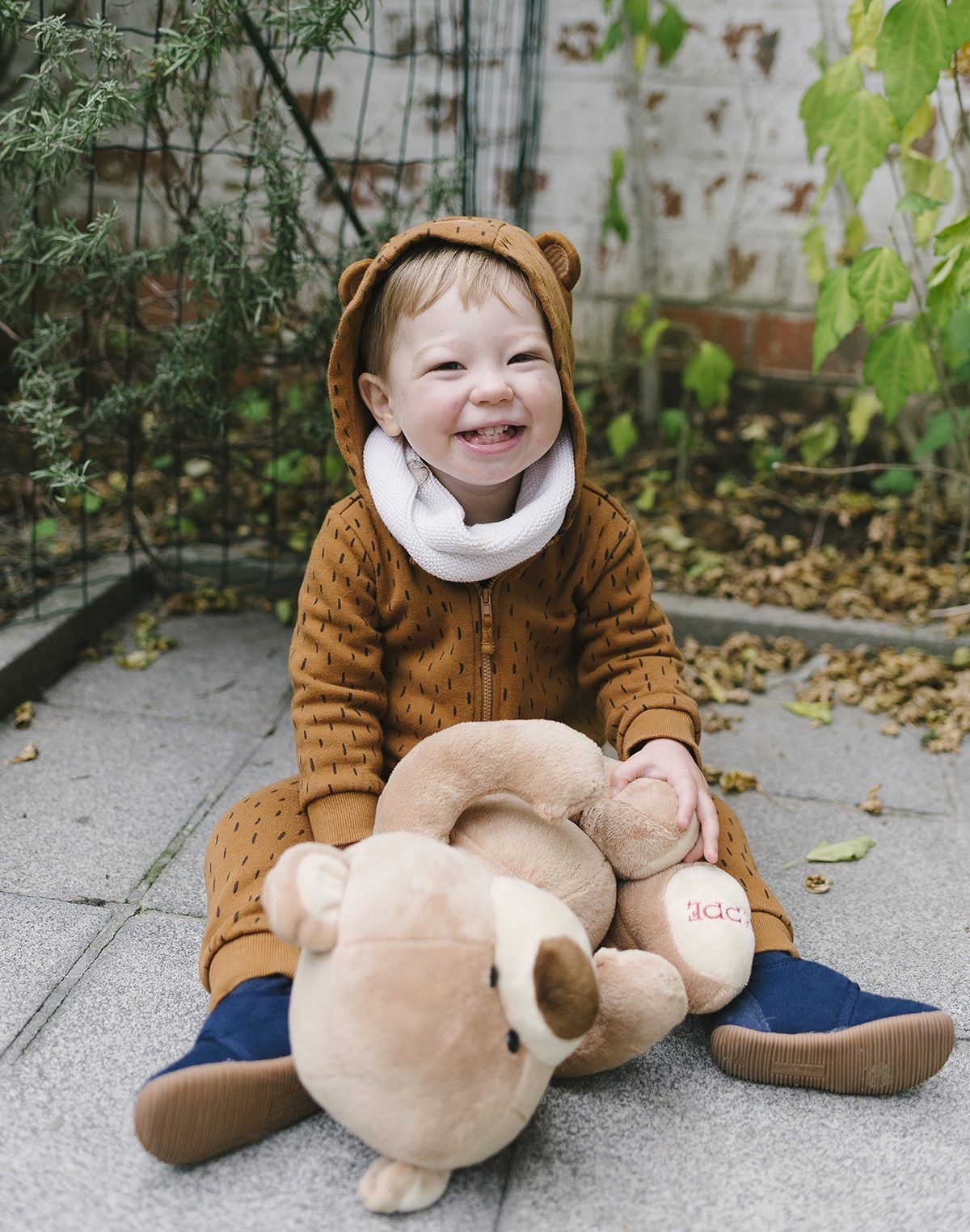 Halloween Bear Costume Toddler Photographer Brussels 001