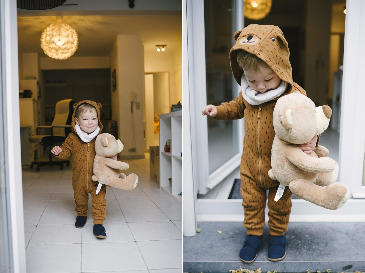 Halloween Bear Costume Toddler Photographer Brussels 003